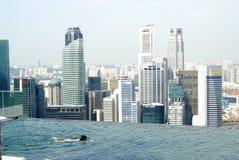 Marina podpalani Piasków Drapacz chmur i dopłynięcia basen Fotografia Royalty Free