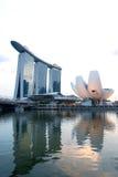 Marina Podpalani piaski i nabrzeże, Singapur Obraz Royalty Free