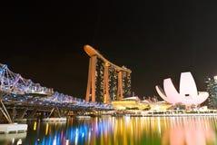 Marina Podpalani piaski Krajobrazowy Singapur Obraz Stock