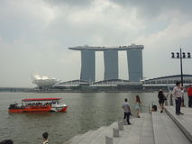 marina podpalani piaski Singapore Obrazy Royalty Free