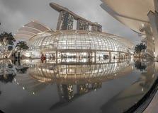 marina podpalani piaski Singapore Fotografia Royalty Free