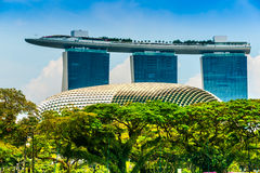 Marina Podpalani piaski, Singapur, Obraz Royalty Free