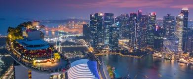 Marina Podpalany Hotelowy Skypark Skygarden Skybar przy Singapur - statek kosmiczny obraz royalty free