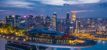 Marina Podpalany Hotelowy Skypark Skygarden Skybar przy Singapur - statek kosmiczny fotografia stock