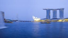 Marina Podpalany Piasków Hotel, Singapur. Obrazy Royalty Free