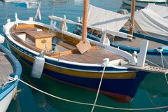 Marina in Porec, Istria. Marina in Porec showing power boats and sailboats Royalty Free Stock Image