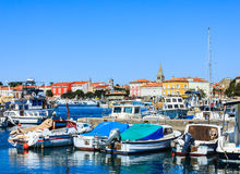 Marina of Porec on Istria peninsula, Croatia. Royalty Free Stock Photos