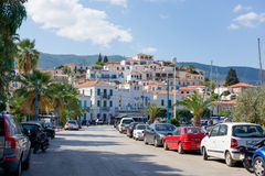 Marina of Poros, is a Greek island in southern part of Saronic G Stock Photos