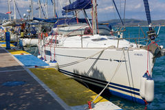 Marina of Poros, is a Greek island in southern part of Saronic G Royalty Free Stock Photo