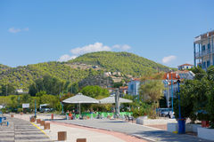 Marina of Poros, is a Greek island in southern part of Saronic G Stock Images