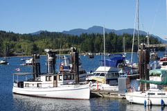 Marina at Porpoise Bay of Sechelt Inlet Royalty Free Stock Images