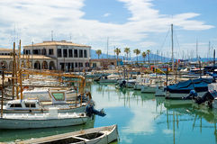 Marina, Port De Pollensa, Majorca, Spain. Royalty Free Stock Photos