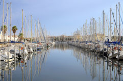 Marina of Port Leucate, France Royalty Free Stock Photo