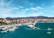 Marina port in Palma de Mallorca at Balearic Islands Spain Stock Image