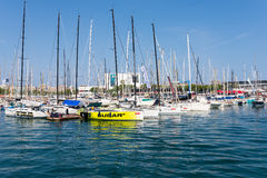 The marina Port Vell, Barcelona Stock Photo