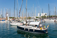 The marina Port Vell, Barcelona Royalty Free Stock Photography