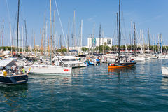 The marina Port Vell, Barcelona Stock Photography