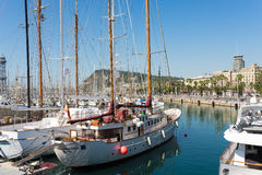 The marina Port Vell Barcelona Stock Image