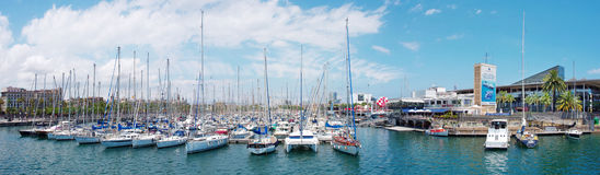 Marina Port Vell  in Barcelona Stock Photography