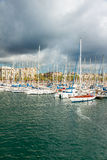 Marina Port Vell in Barcelona Stock Photos