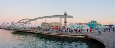 Marina Port Vell and the Rambla del Mar, Barcelona Royalty Free Stock Images