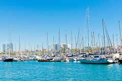 Marina in port Vell on September 14 2012, 2009 in Barcelona. Royalty Free Stock Photo