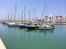 Marina port w Agadir Fotografia Stock