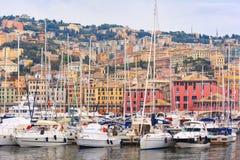 Marina Porto Antico Genova, Genoa, Italy. Stock Images