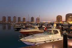 Marina in Porto Arabia, Doha Royalty Free Stock Image