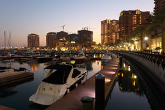 Marina in Porto Arabia, Doha Stock Photo