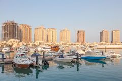 Marina in Porto Arabia, Qatar Stock Photos