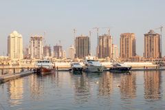 Marina in Porto Arabia, Qatar Stock Images