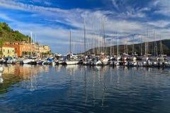 Marina in Porto Azzurro Stock Images