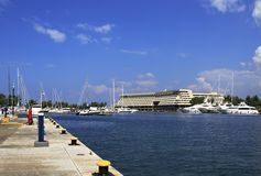 Marina in Porto Carras Meliton. Stock Photography