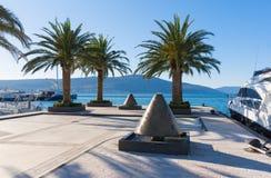 Marina Porto Montenegro. Tivat, Montenegro Imagen de archivo libre de regalías