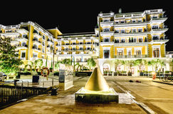 Marina Porto Montenegro in Tivat, Montenegro by night Royalty Free Stock Photo