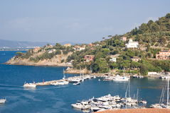 Marina of Porto Santo Stefano, Tuscany in Italy Stock Photos