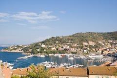 Marina of Porto Santo Stefano, Tuscany in Italy Royalty Free Stock Photo