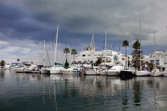 Marina Portowy El Kantaoui, Tunezja zdjęcia stock