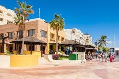 Marina promenade in Cabo San Lucas marina Stock Image