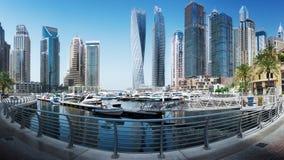 Marina Promenade in Dubai-Stadt, UAE stockfoto