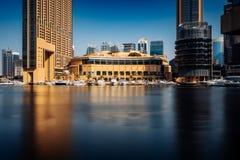 Marina Promenade in Dubai-Stadt, UAE stockfotografie