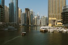 Marina Promenade in Dubai-Stadt, UAE stockbild