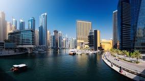 Marina Promenade in Dubai-Stadt, UAE lizenzfreie stockbilder