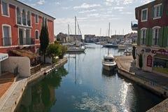 Marina przy Portowym Grimaud zdjęcia stock