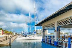Marina przy Varadero plażą w Kuba Zdjęcia Royalty Free