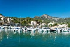 Marina przy Wyspami Majorca wyspami Zdjęcia Royalty Free