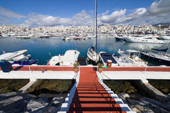 Marina in Puerto Banus Stock Image