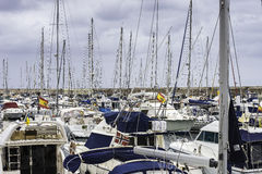 Marina in Puerto Calero Stock Photo