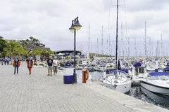Marina in Puerto Calero Royalty Free Stock Photo